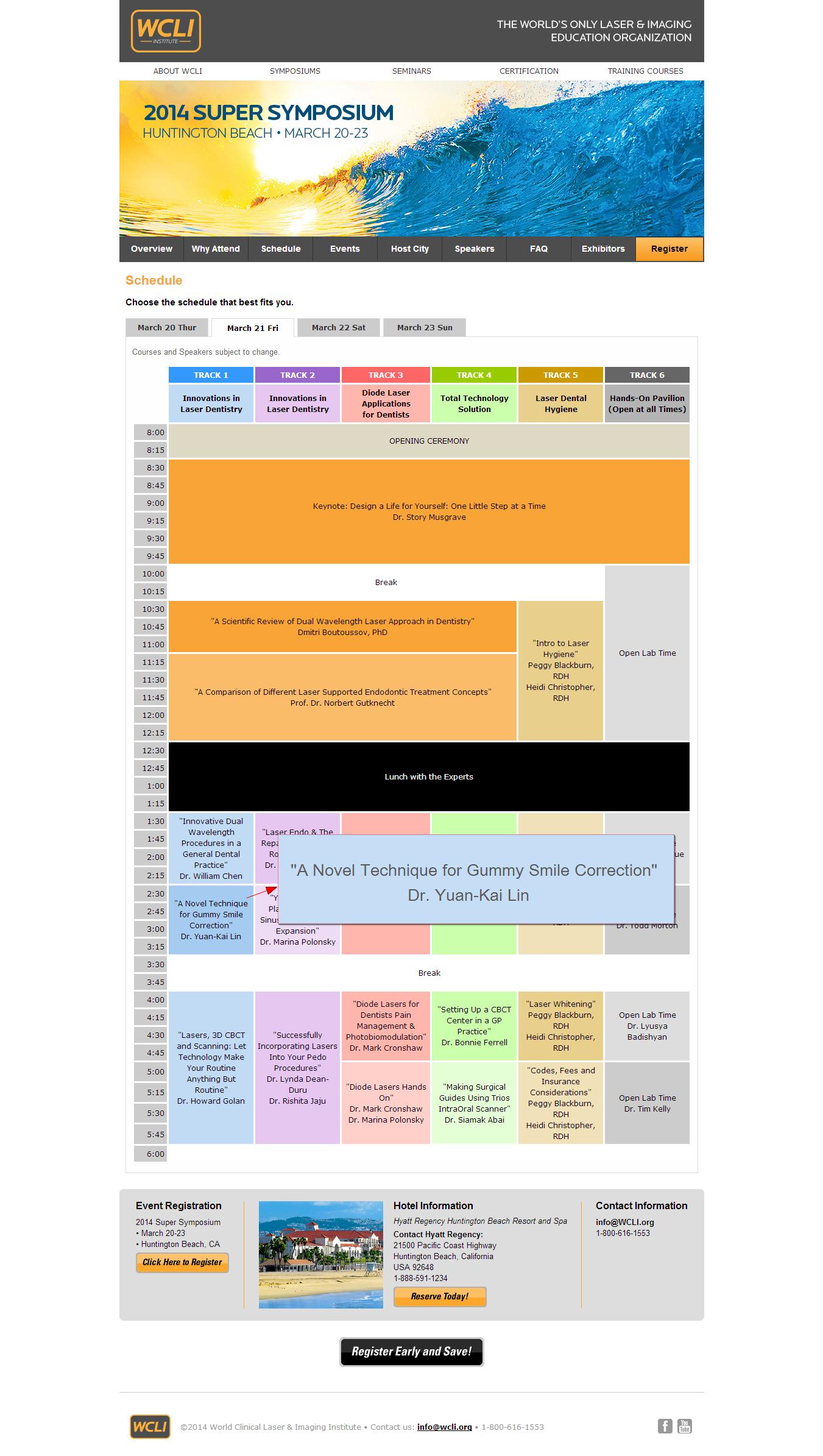WCLI Schedule 2
